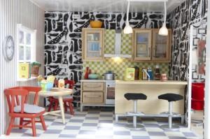 リサさんのドールハウス、キッチン