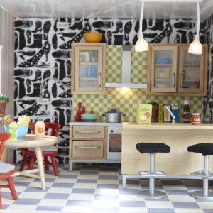 リサさんのドールハウス、キッチン (人気デザイナーによるオンリーワンのドールハウス、オークションで落札中)
