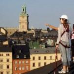 ストックホルム屋根歩きツアー。魔女宅のキキの気分を味わおう。