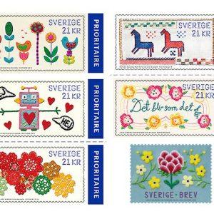 スウェーデン切手 (今年初のスウェーデン切手のテーマはハンドクラフト)