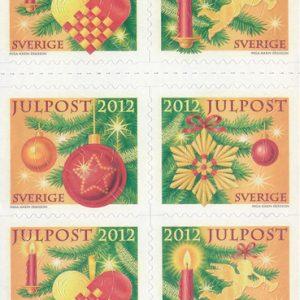 2012-julposts (今年のクリスマス切手と、2010年からのクリスマス切手)